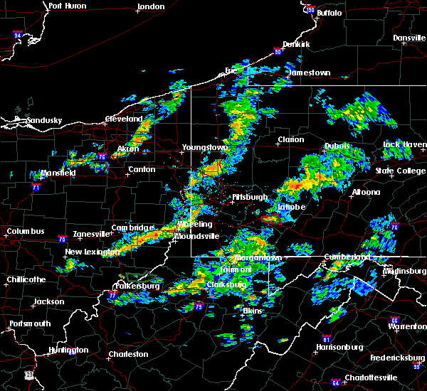 Radar Image for Severe Thunderstorms near Youngstown, PA at 6/27/2018 8:12 PM EDT