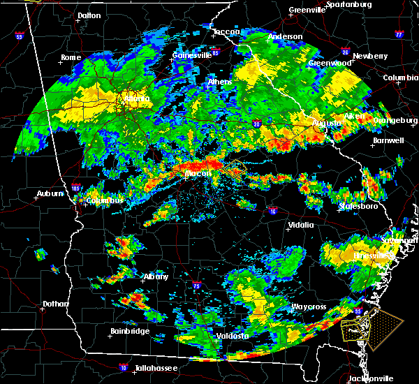 Radar Image for Severe Thunderstorms near Deepstep, GA at 6/27/2018 8:39 PM EDT