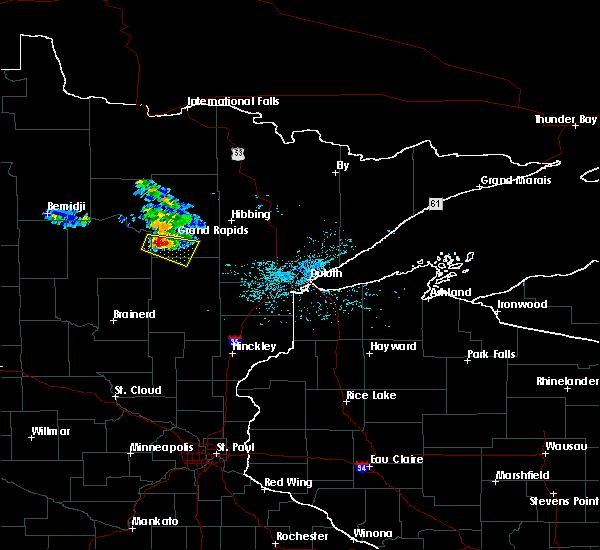 Radar Image for Severe Thunderstorms near La Prairie, MN at 6/28/2018 10:49 AM CDT