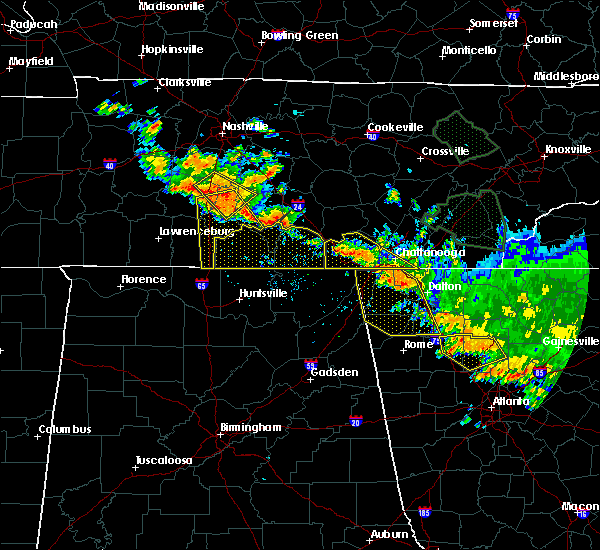 Radar Image for Severe Thunderstorms near Chickamauga, GA at 6/28/2018 12:05 PM EDT
