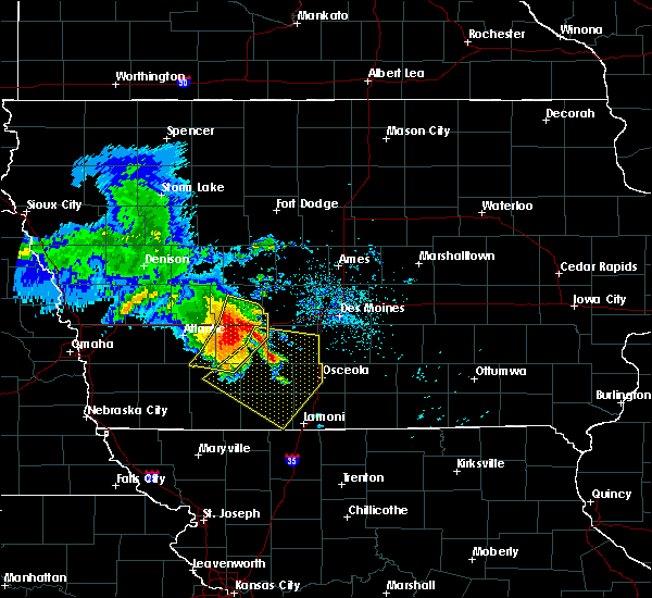 Radar Image for Severe Thunderstorms near Orient, IA at 6/28/2018 11:35 AM CDT
