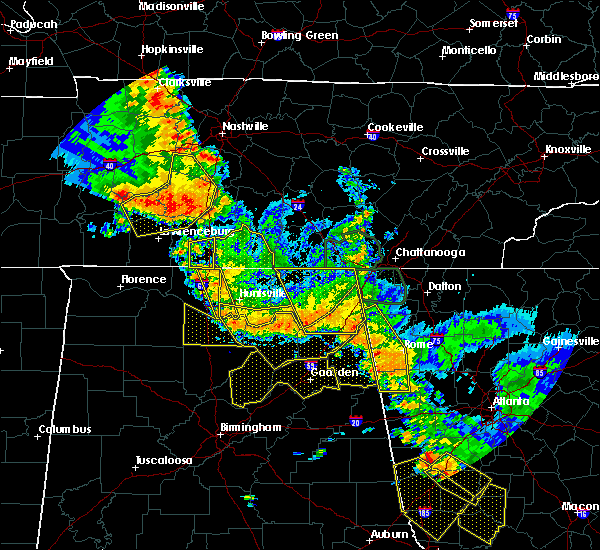 Radar Image for Severe Thunderstorms near Guntersville, AL at 6/28/2018 1:09 PM CDT