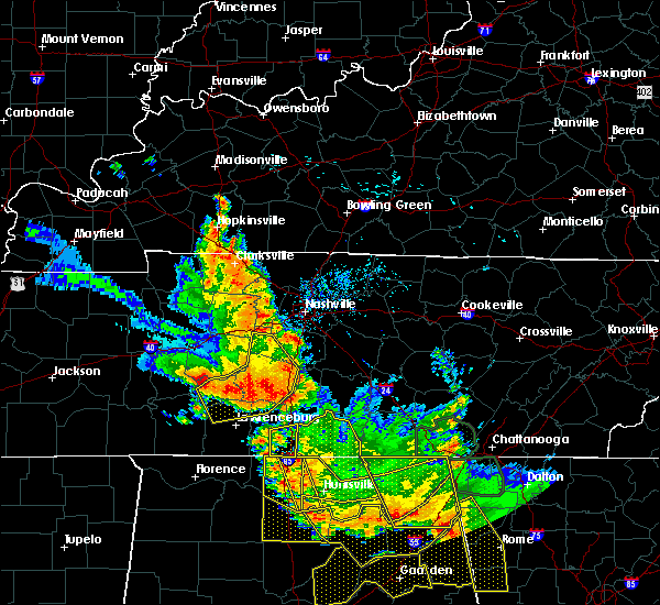 Radar Image for Severe Thunderstorms near Summertown, TN at 6/28/2018 1:09 PM CDT