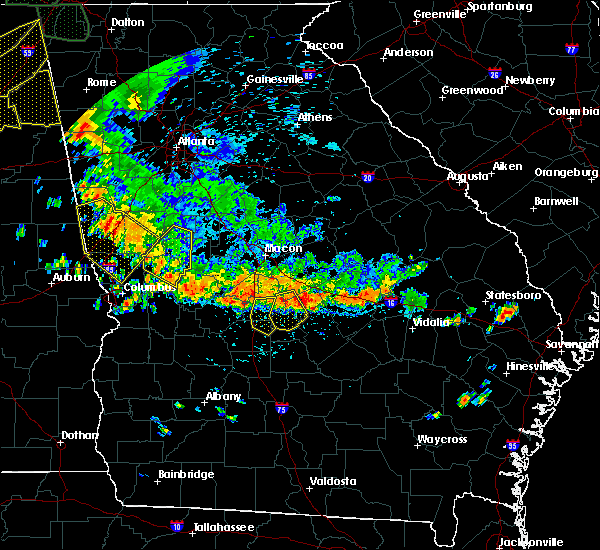 Radar Image for Severe Thunderstorms near Unadilla, GA at 6/28/2018 2:37 PM EDT