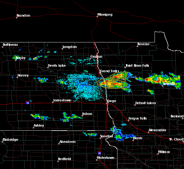 Radar Image for Severe Thunderstorms near Red Lake Falls, MN at 6/28/2018 1:50 PM CDT