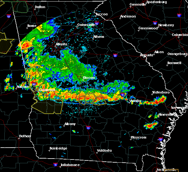 Radar Image for Severe Thunderstorms near Eastman, GA at 6/28/2018 3:05 PM EDT