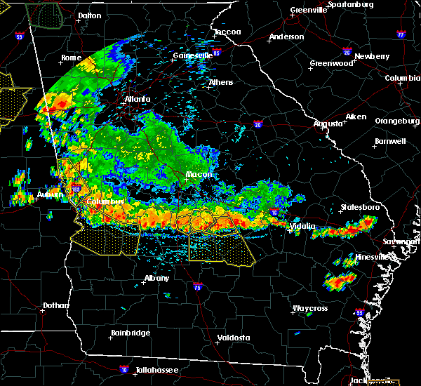 Radar Image for Severe Thunderstorms near Milan, GA at 6/28/2018 3:12 PM EDT
