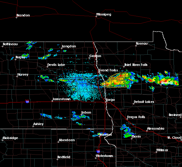 Radar Image for Severe Thunderstorms near Red Lake Falls, MN at 6/28/2018 2:12 PM CDT