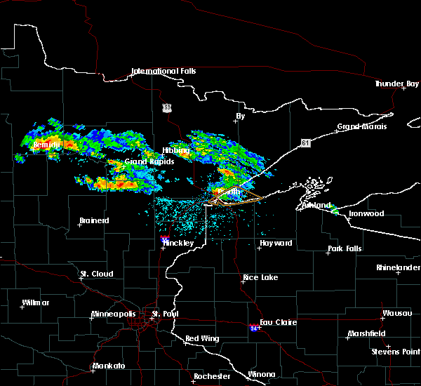 Radar Image for Severe Thunderstorms near Bemidji, MN at 6/28/2018 2:21 PM CDT
