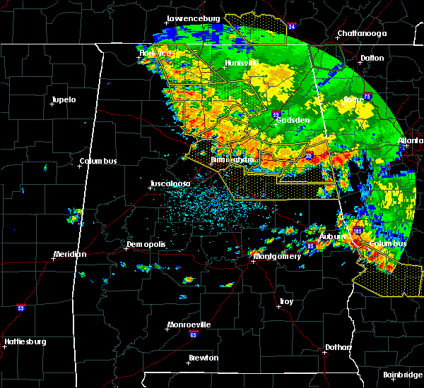 Radar Image for Severe Thunderstorms near Lincoln, AL at 6/28/2018 2:36 PM CDT