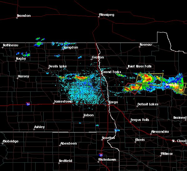 Radar Image for Severe Thunderstorms near Grand Forks AFB, ND at 6/28/2018 3:08 PM CDT
