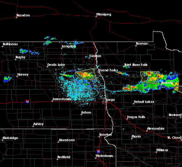 Radar Image for Severe Thunderstorms near Grand Forks AFB, ND at 6/28/2018 3:27 PM CDT