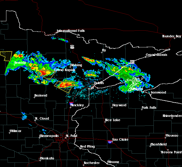 Radar Image for Severe Thunderstorms near La Prairie, MN at 6/28/2018 3:45 PM CDT