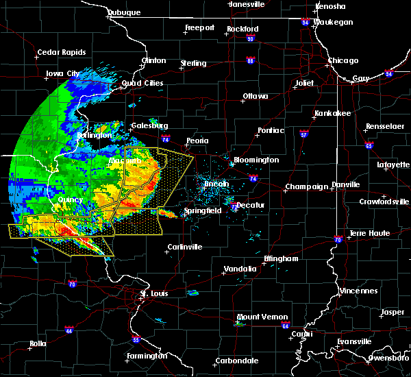 Radar Image for Severe Thunderstorms near Canton, IL at 6/28/2018 4:07 PM CDT
