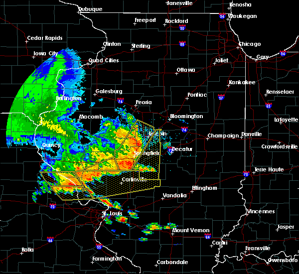 Radar Image for Severe Thunderstorms near Rochester, IL at 6/28/2018 4:48 PM CDT