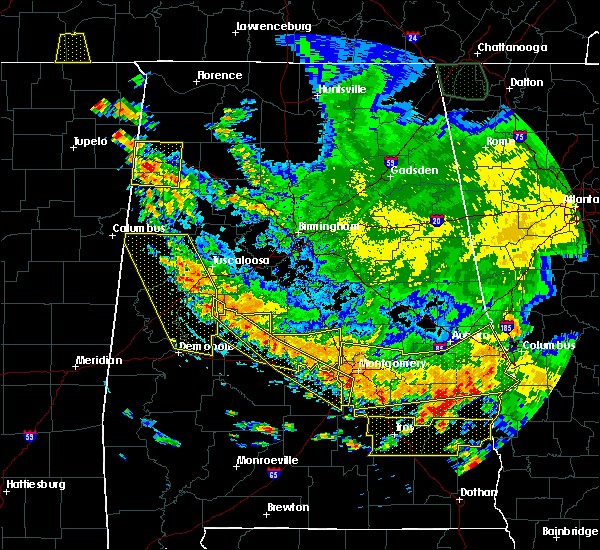 Radar Image for Severe Thunderstorms near Montgomery, AL at 6/28/2018 4:54 PM CDT
