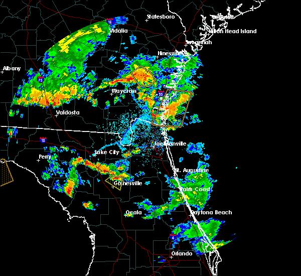 Radar Image for Severe Thunderstorms near Jesup, GA at 6/28/2018 5:57 PM EDT