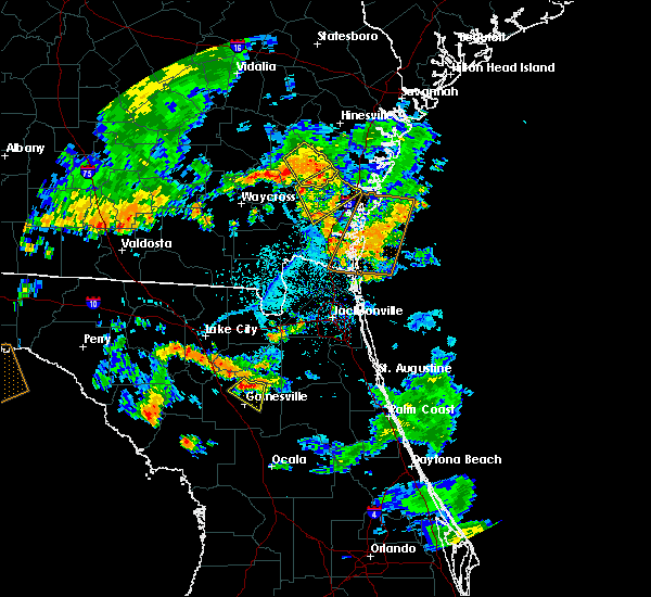Radar Image for Severe Thunderstorms near Darien, GA at 6/28/2018 6:02 PM EDT