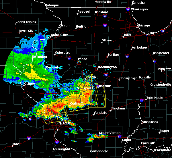 Radar Image for Severe Thunderstorms near Taylorville, IL at 6/28/2018 5:20 PM CDT