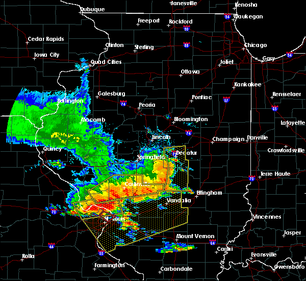 Radar Image for Severe Thunderstorms near Mount Zion, IL at 6/28/2018 5:38 PM CDT