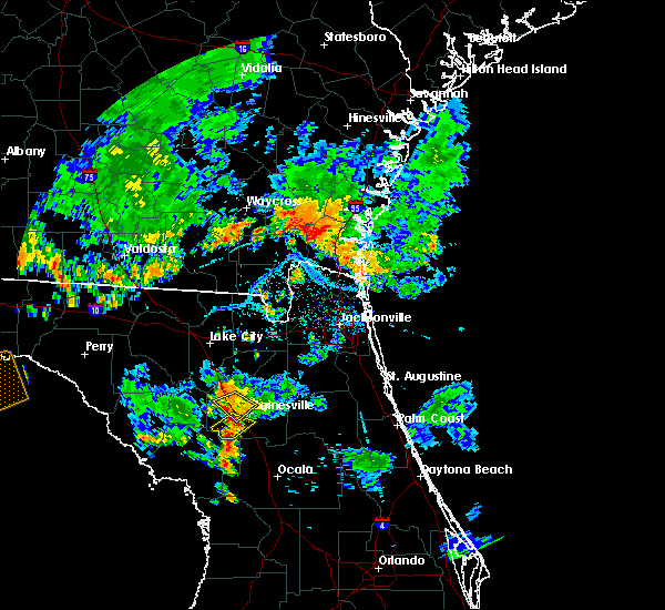Radar Image for Severe Thunderstorms near Gainesville, FL at 6/28/2018 6:47 PM EDT