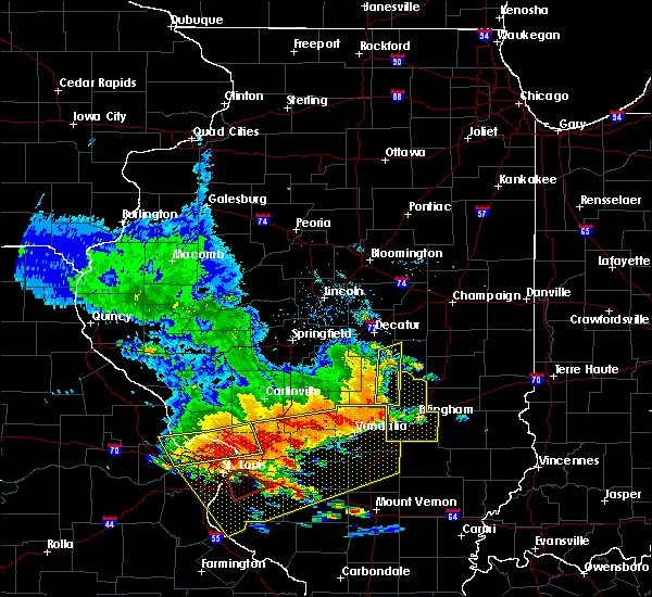 Radar Image for Severe Thunderstorms near Beecher City, IL at 6/28/2018 5:56 PM CDT