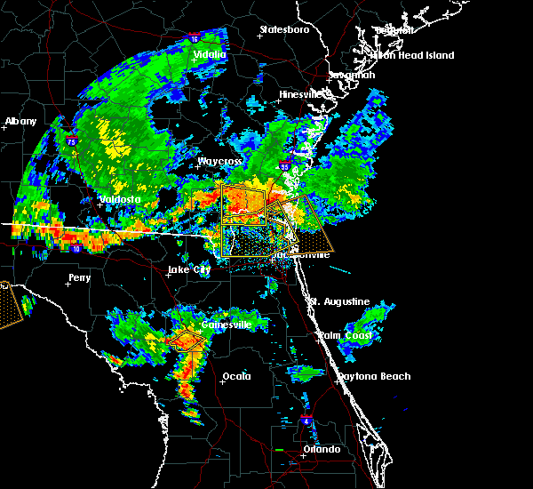 Radar Image for Severe Thunderstorms near Callahan, FL at 6/28/2018 7:15 PM EDT