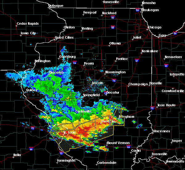 Radar Image for Severe Thunderstorms near Sigel, IL at 6/28/2018 6:15 PM CDT