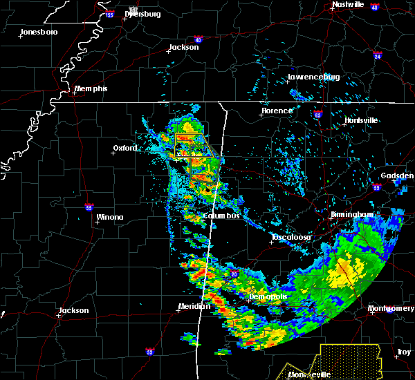 Radar Image for Severe Thunderstorms near Saltillo, MS at 6/28/2018 6:19 PM CDT