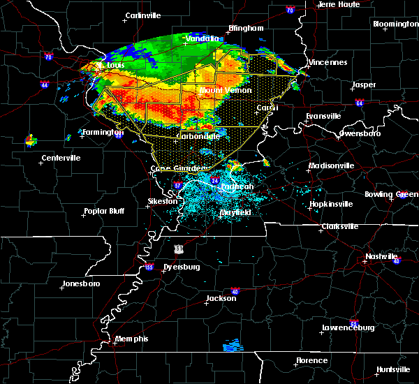 Radar Image for Severe Thunderstorms near Marion, IL at 6/28/2018 7:05 PM CDT