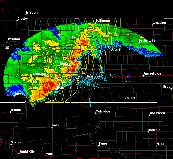 Radar Image for Severe Thunderstorms near Wing, ND at 6/29/2018 12:44 AM CDT