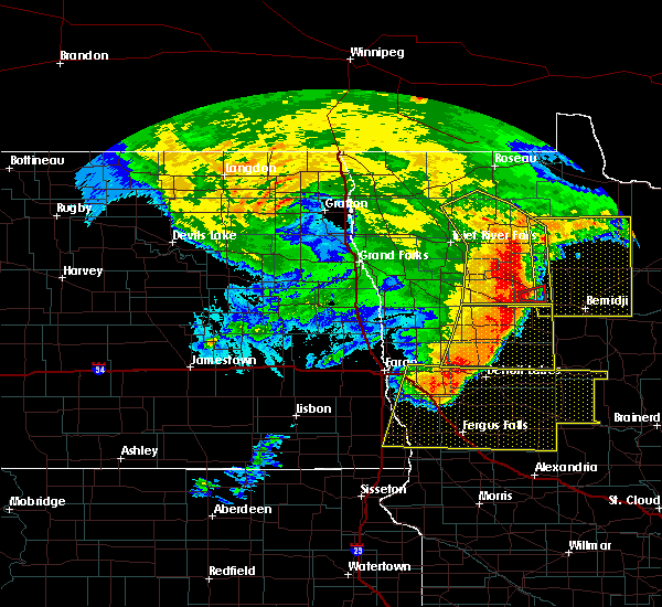 Radar Image for Severe Thunderstorms near Bemidji, MN at 6/29/2018 5:27 AM CDT