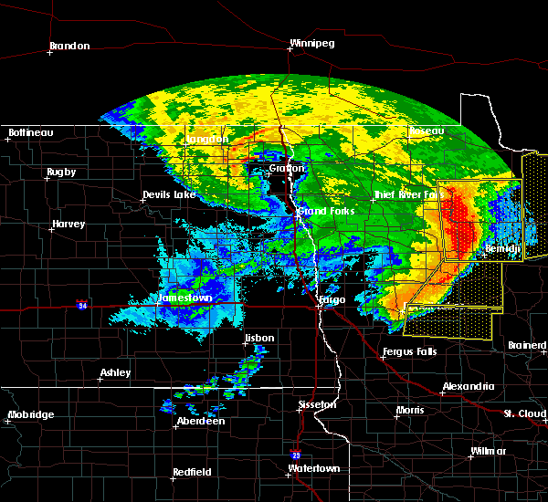 Radar Image for Severe Thunderstorms near Wolf Lake, MN at 6/29/2018 5:48 AM CDT
