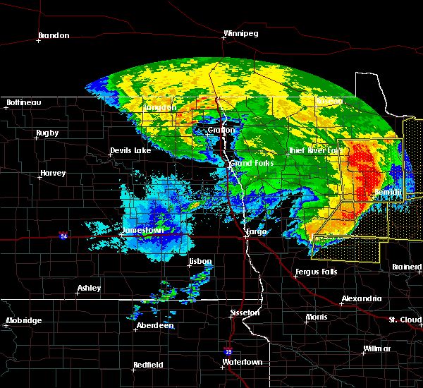 Radar Image for Severe Thunderstorms near Wolf Lake, MN at 6/29/2018 5:54 AM CDT