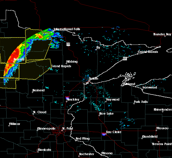 Radar Image for Severe Thunderstorms near Grand Rapids, MN at 6/29/2018 5:54 AM CDT