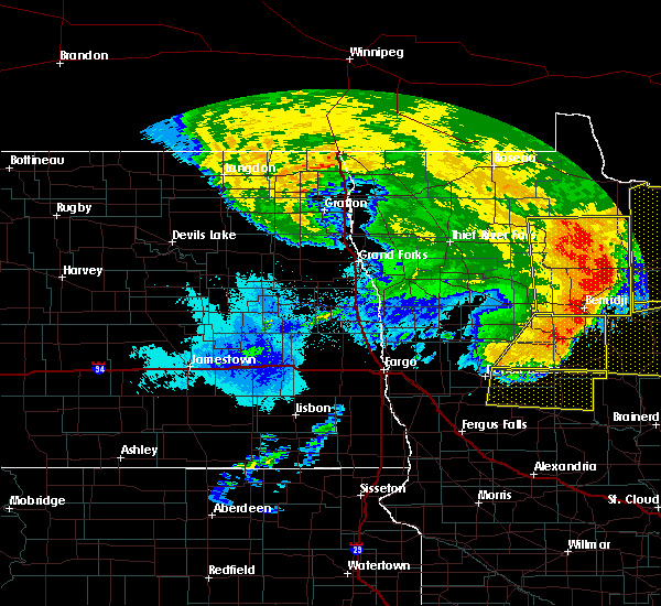 Radar Image for Severe Thunderstorms near Bemidji, MN at 6/29/2018 5:58 AM CDT