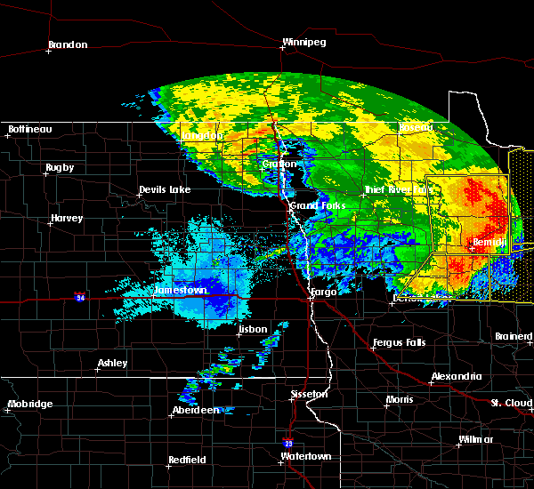 Radar Image for Severe Thunderstorms near Redby, MN at 6/29/2018 6:03 AM CDT