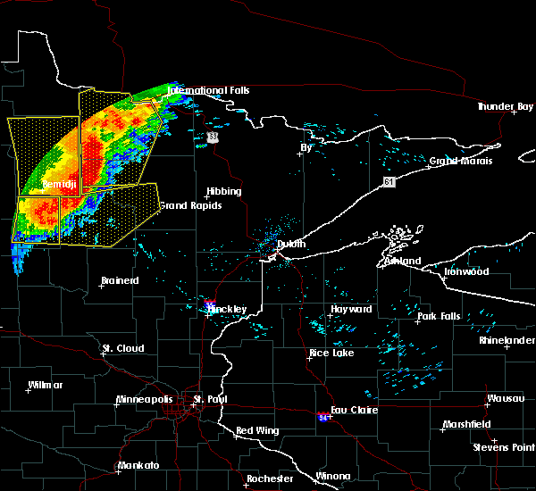 Radar Image for Severe Thunderstorms near Squaw Lake, MN at 6/29/2018 6:15 AM CDT