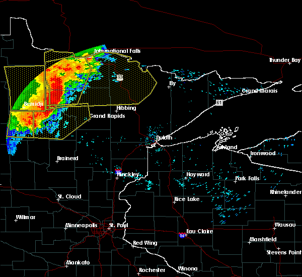Radar Image for Severe Thunderstorms near Squaw Lake, MN at 6/29/2018 6:22 AM CDT