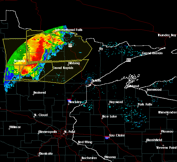 Radar Image for Severe Thunderstorms near Cohasset, MN at 6/29/2018 6:25 AM CDT