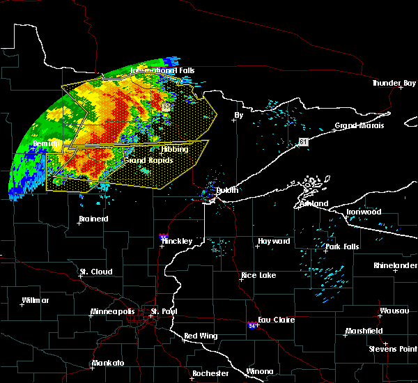 Radar Image for Severe Thunderstorms near Cohasset, MN at 6/29/2018 6:43 AM CDT