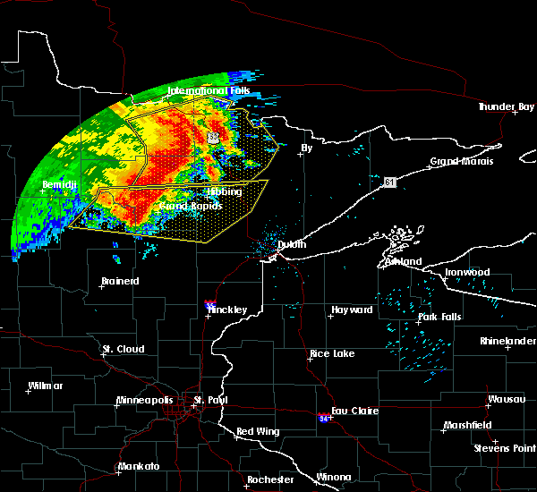 Radar Image for Severe Thunderstorms near Cohasset, MN at 6/29/2018 6:55 AM CDT