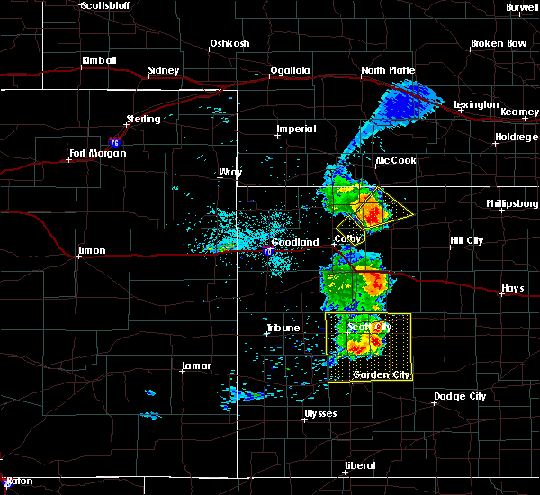 Radar Image for Severe Thunderstorms near Oberlin, KS at 6/29/2018 10:04 PM CDT