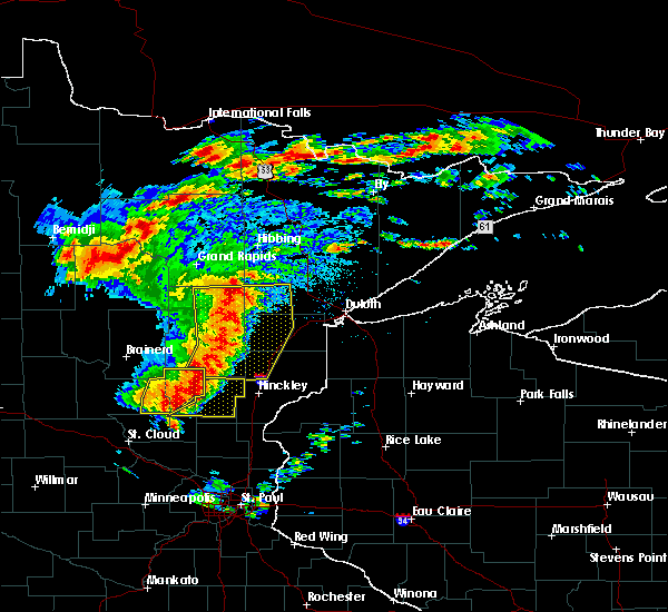 Radar Image for Severe Thunderstorms near Ogilvie, MN at 6/30/2018 2:32 AM CDT