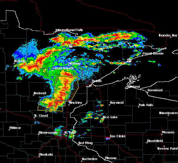 Radar Image for Severe Thunderstorms near Barnum, MN at 6/30/2018 2:45 AM CDT