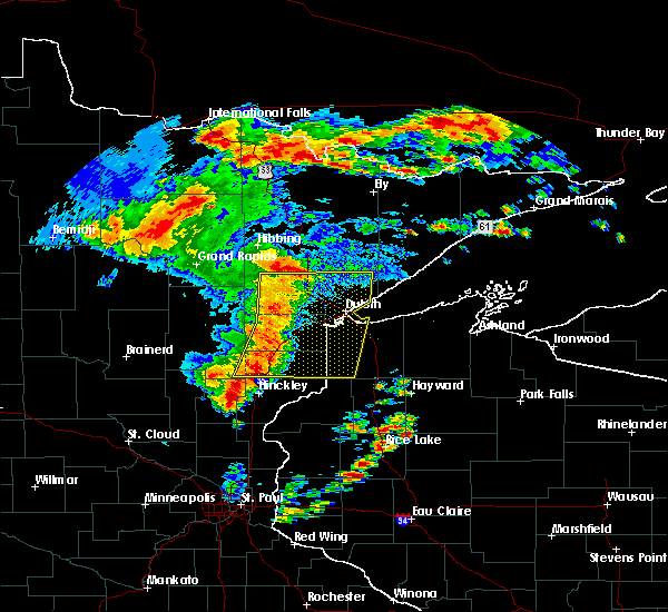 Interactive Hail Maps - Hail Map for Moose Lake, MN