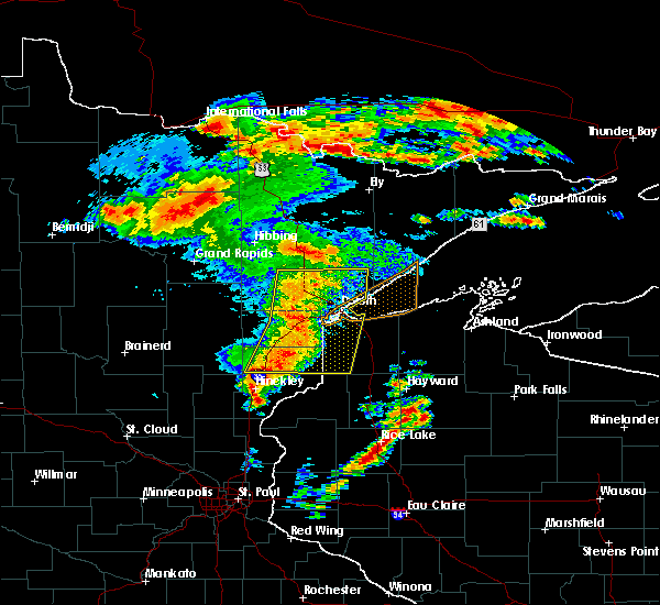 Radar Image for Severe Thunderstorms near Esko, MN at 6/30/2018 3:21 AM CDT