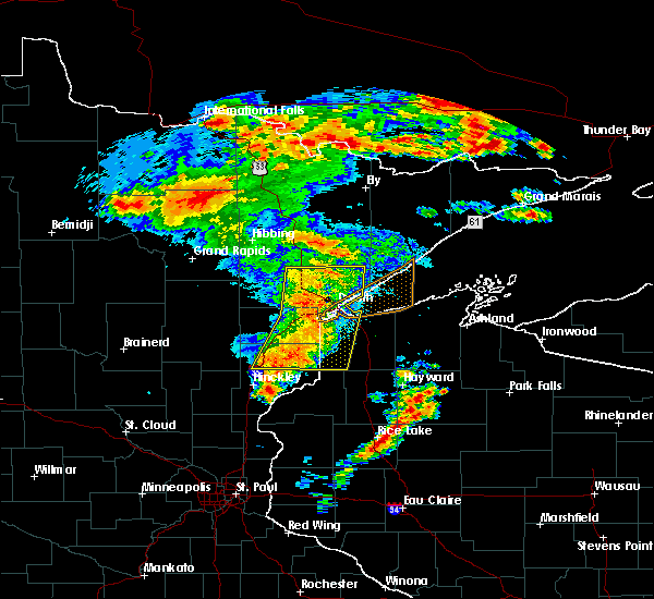 Radar Image for Severe Thunderstorms near Esko, MN at 6/30/2018 3:31 AM CDT