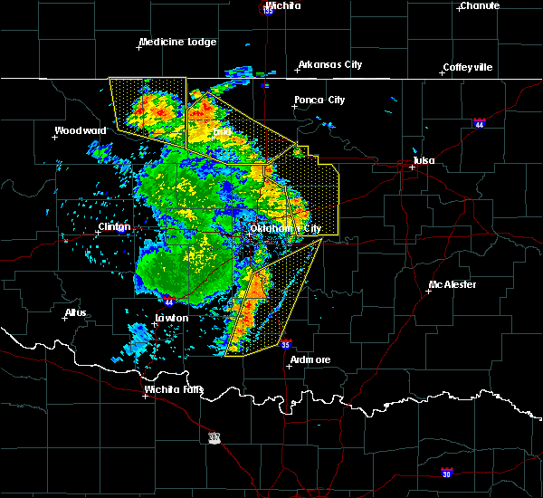 Radar Image for Severe Thunderstorms near Prague, OK at 6/30/2018 5:21 PM CDT