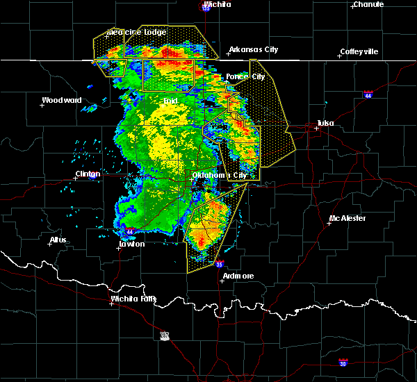 Radar Image for Severe Thunderstorms near Prague, OK at 6/30/2018 5:59 PM CDT